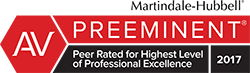 Martindale-Hubbell recognizing Jim Dodson Law Firm