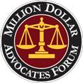 Million Dollar Advocates Forum recognizing Jim Dodson Law Firm